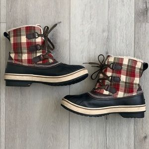 🏂 Sorel Tivoli Women's Red and Brown Snow Boots